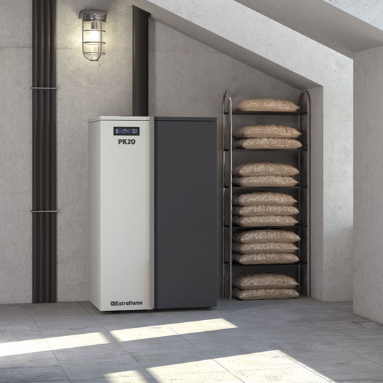 caldera de pellets - biomasa